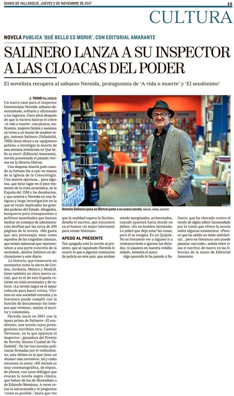 Salinero lanza a su inspector a las cloacas del poder por J. Tovar, vía Diario de Valladolid