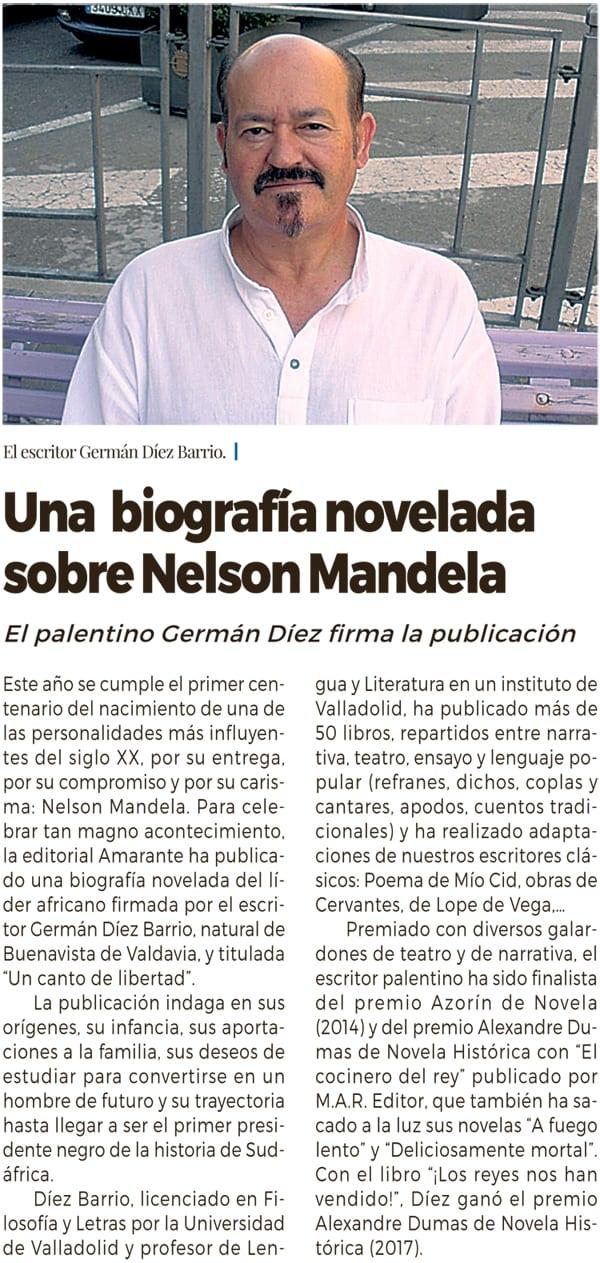 Una biografía novelada sobre Nelson Mandela