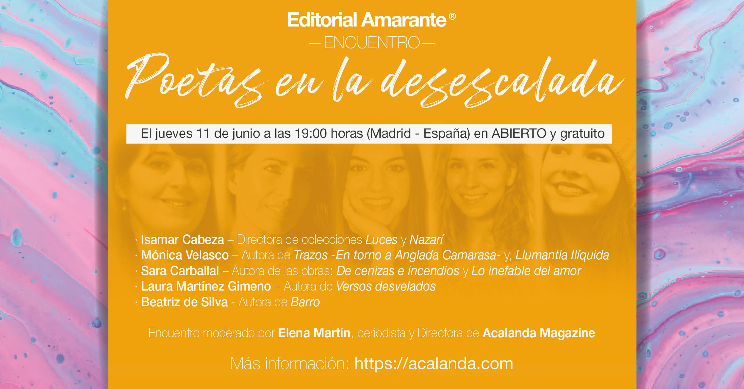 Editorial Amarante - Poetas en la desescalada